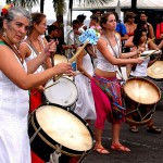 women playing drums